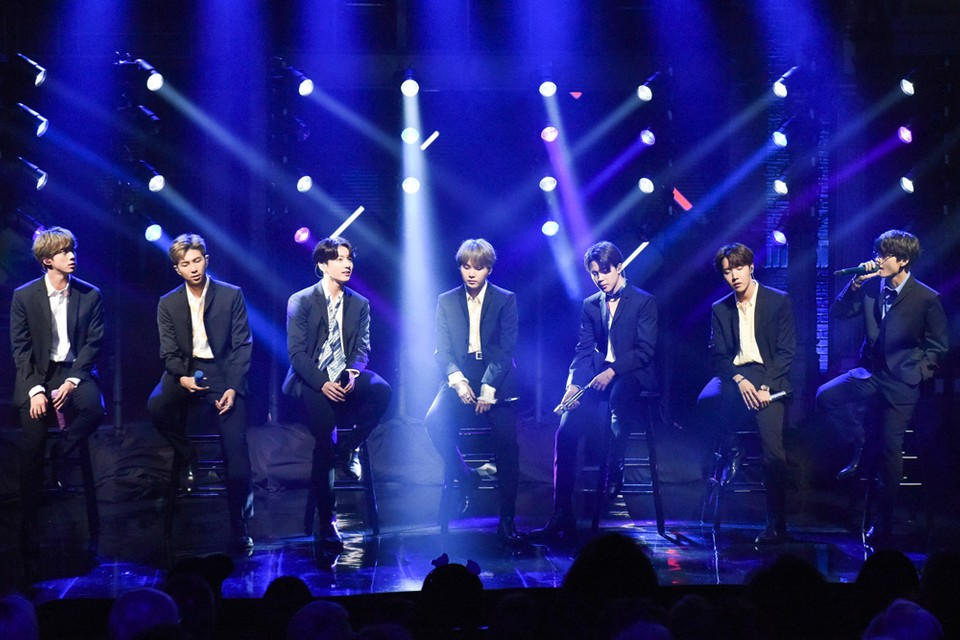 BTS Pays Tribute to The Beatles on 'The Late Show' | HYPEBEAST