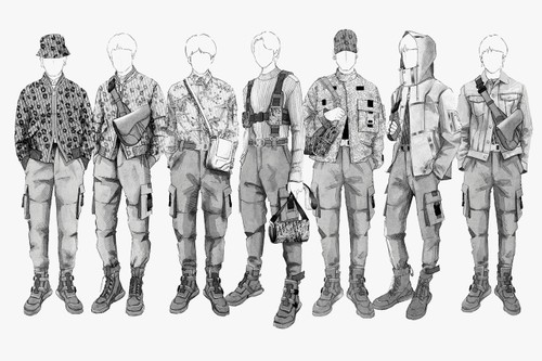Kim Jones Designs Custom Dior Stage Outfits for BTS