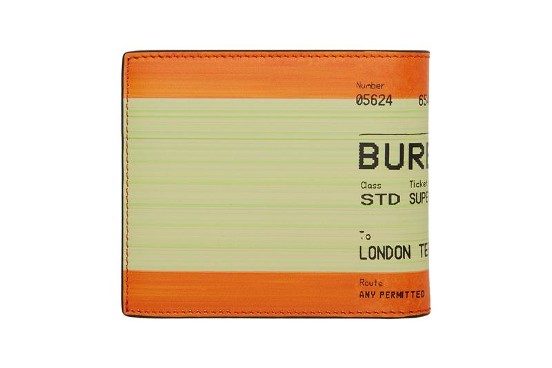 Burberry London UK Rail Ticket Card Print Orange Wallet Cardholder Riccardo Tisci Spring Summer 2019 SS19 Accessories SSENSE Online Transport Graphic