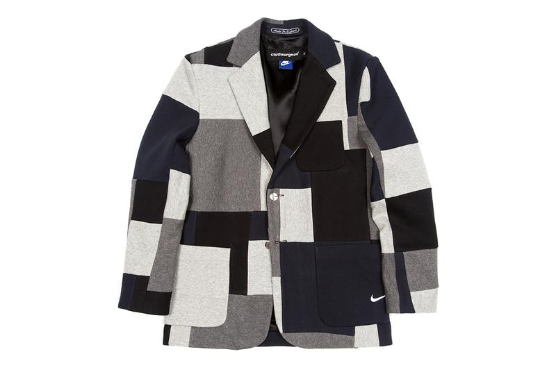 clothsurgeon RECONSRUCTED PROJECT Browns Exclusive Capsule Collection Farfetch Stadium Goods Supreme Nike Tailored double pleat trousers sports blazer overcoat utility vest type II jacket MA-1 bomber Nike Fundamental Fleece Sweatpants Virgin Mary Blanket Wool Overcoat Supreme x The North Face Denali Fleece Blanket Storm Break Snakeskin tent