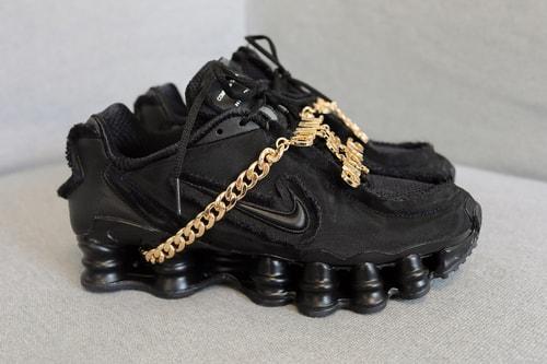 COMME des GARÇONS x Nike Shox TL in Triple Black Closer Look