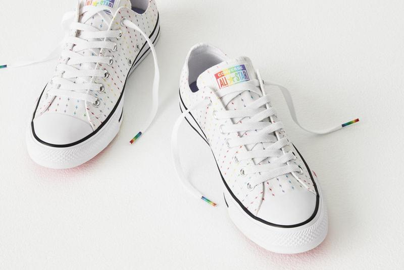 converse 2019 pride collection chunk taylor chuck 70 glitter sneakers