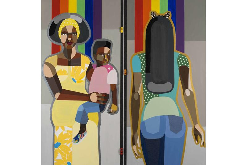 derrick adams the ins and outs figures in the urban landscape exhibition artworks paintings