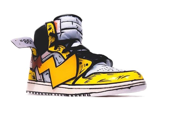 994085c342d69e Detective Pikachu Inspired Off-White x Air Jordan 1 Customs