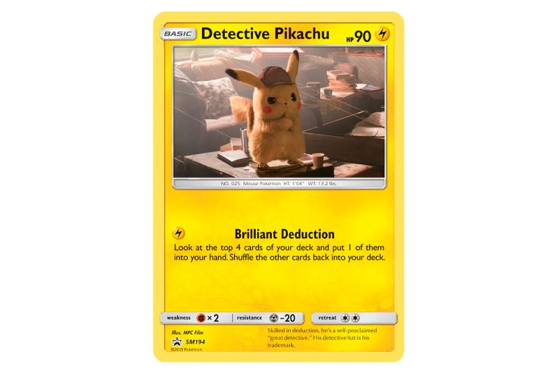 Special 'Detective Pikachu' Merch Release trading cards tees t-shirts pikachu booster packs mewtwo charizard
