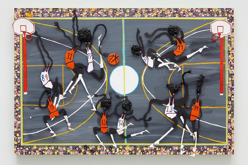 """Devin Troy Strother Dismantles """"Natural Black Athleticism"""" in New Paintings"""