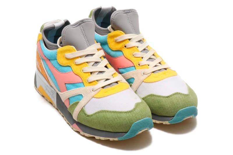 Diadora x LC23 N9000 Socks Saturno Release multi colored colorful suede sneaker neoprene shoes retro