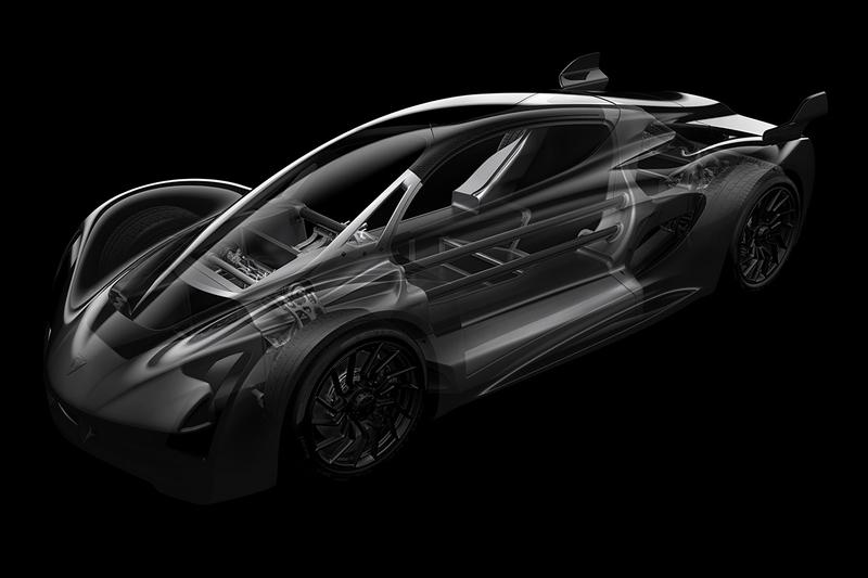 Divergent Blade 3D Printed Hypercar Chassis 4WD Hybrid Power 700 BHP Inline Fighter Jet Seating Design Language Automotive News