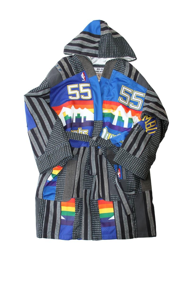 Dr. Romanelli Custom Mitchell & Ness Boro Kimono patchwork jacket coat nba team logo jersey