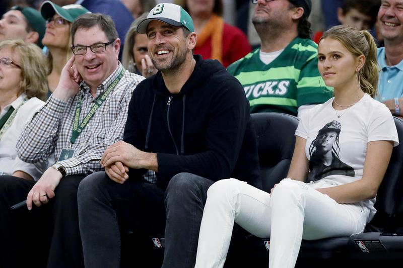 drake mallory edens pusha t shirt trolling toronto raptors milwaukee bucks nba finals game aaron rodgers ovo fest