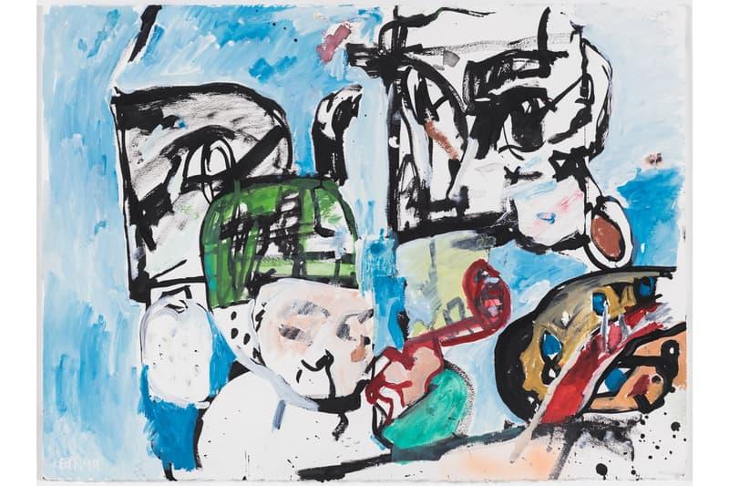 eddie martinez blockhead stacks exhibition perrotin hong kong artworks paintings