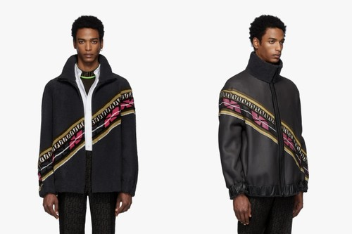 5dacafc9 Fendi Unveils Hefty Reversible Shearling Jacket With Vibrant Strike-Throughs