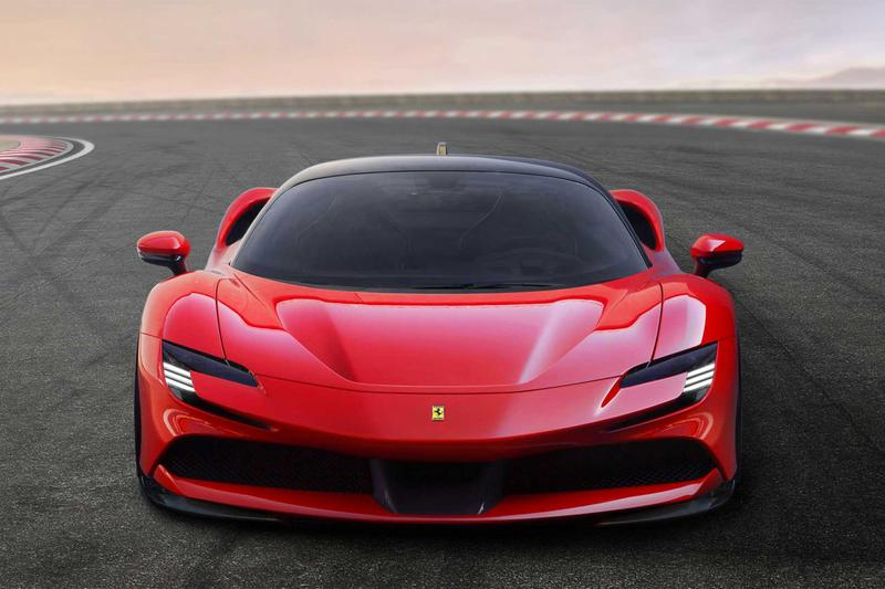 Ferrari Hybrid SF90 Stradale 986 Horsepower Info electric vehicle luxury sportscar racing motorsports speed italy design prancing horse supercar