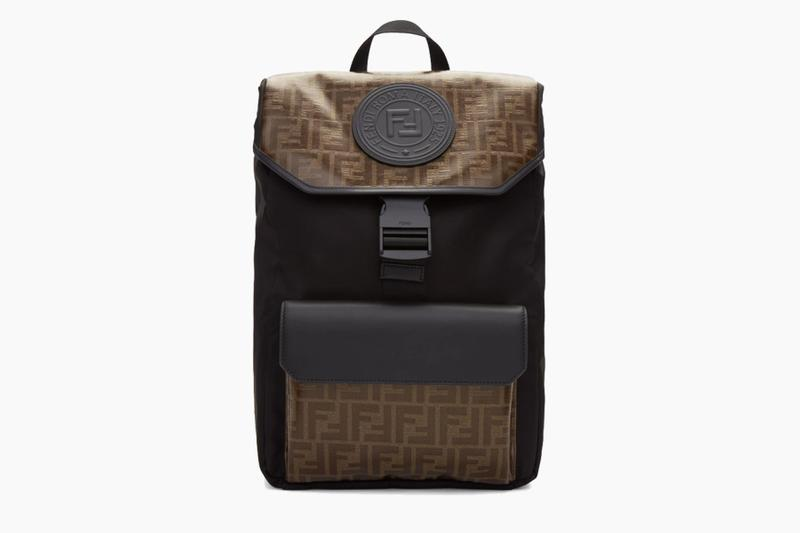 Fendi FF Monogram Black/Brown Leather Backpack Release price where to buy 2019