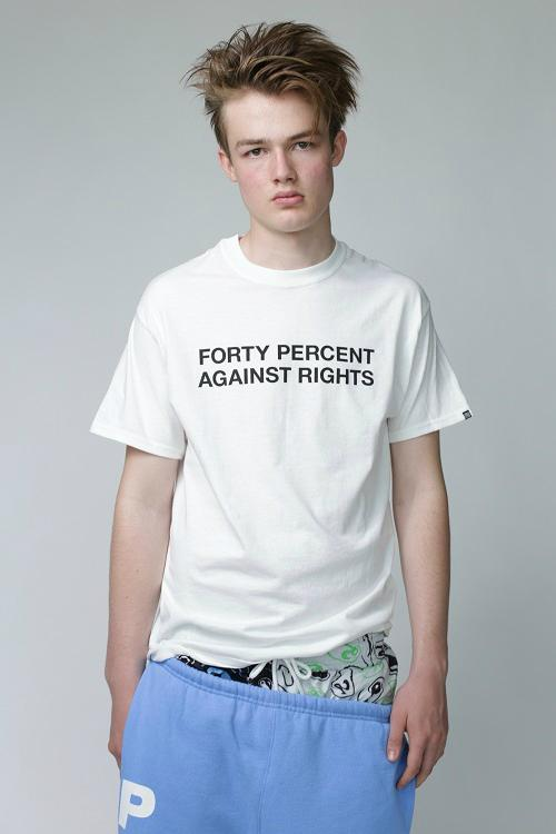 FORTY PERCENT AGAINST RIGHTS Richardson SS19 spring summer 2019 t shirt tees graphic black grey gray blue pink zippered mesh bag 3m white orange buy where to price cost store collab collaboration capsule collection pullover hoodie hooded sweatshirt