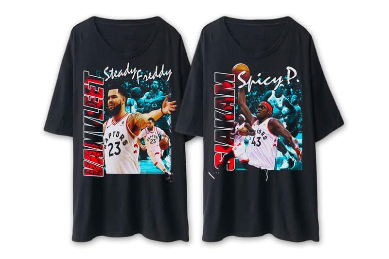 FreekyP Frankie Toronto Raptors Starting 5 T-Shirts Release F as in Frank Kawhi Leonard Kyle Lowry Serge Ibaka Pascal Siakam Fred VanVleet  Shot Bounce Series homage