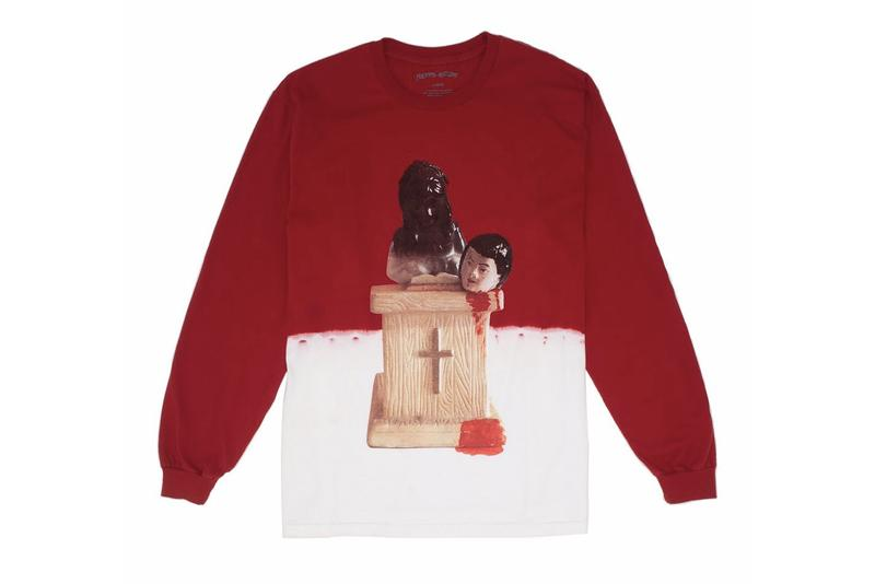 Fucking Awesome Hollywood Store Exclusives Opening Long Sleeve T-shirt Red White Prey Bleach Dip Streetwear Graphic Printed Sweatshirt