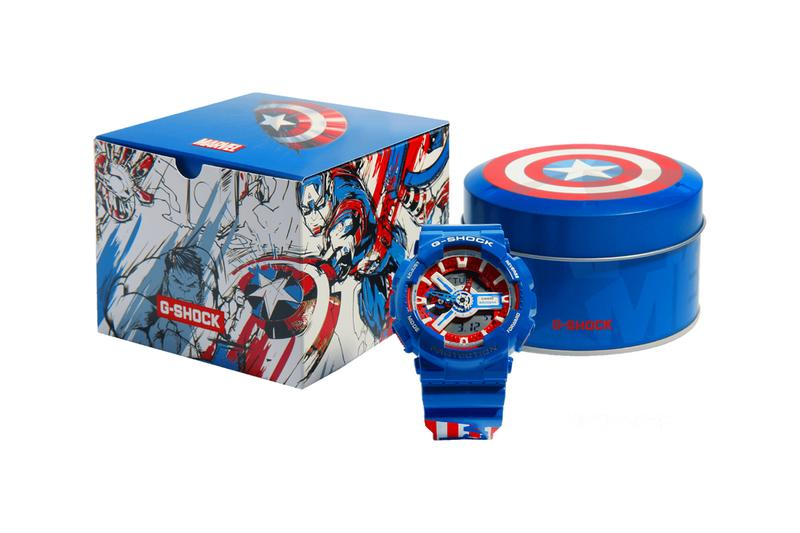 G-Shock Marvel Avengers Collection Release watches timepiece custom art comics cinematic universe studios endgame infinity war tony stark steve rogers captain america iron man spider man