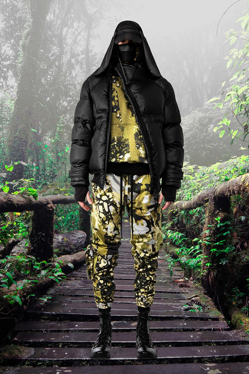GALL Aeon X Fall Winter 2019 2020 Lookbook Techwear Italian Manufacturing Design Military Influence Collection Oversized Camouflage Black Grey Outerwear Technical