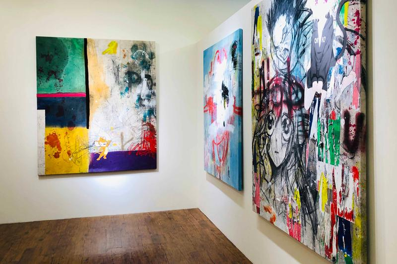 george morton clark same tomorrow as yesterday exhibition paintings artworks pop art gin huang gallery