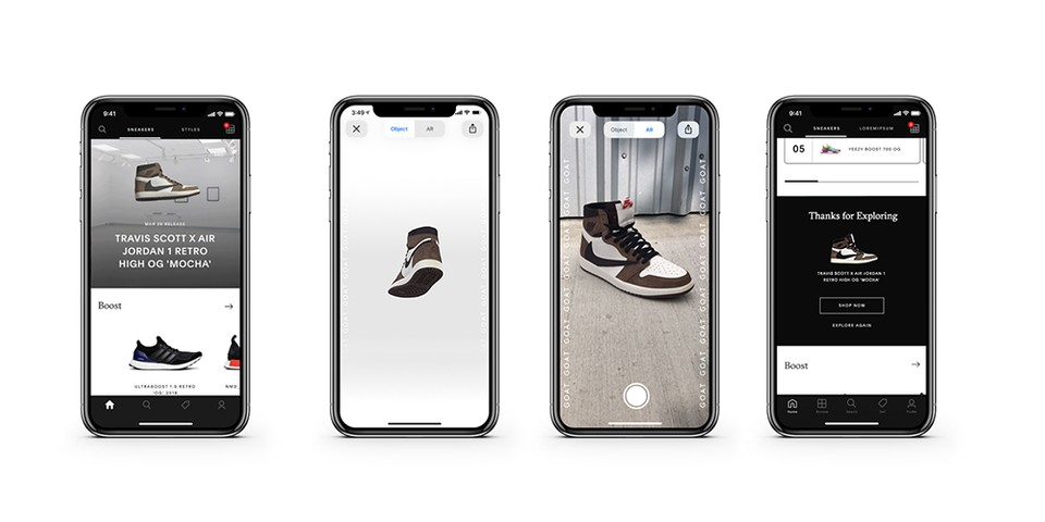 GOAT Launches Augmented Reality Sneaker Function   HYPEBEAST
