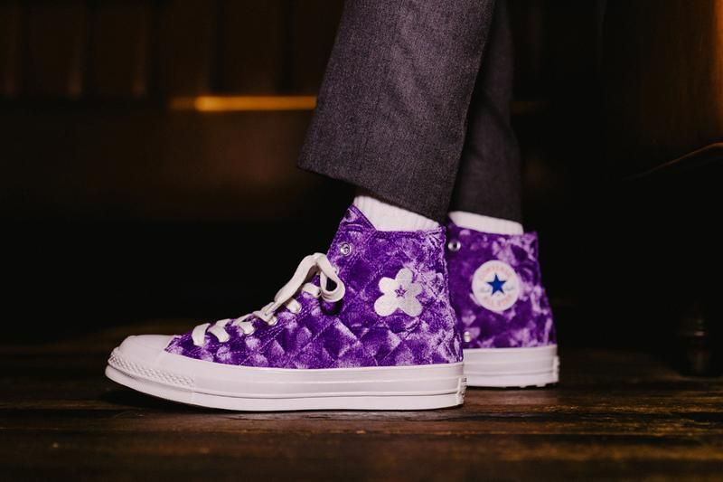 "GOLF le FLEUR* x Converse ""Quilted Velvet"" Pack chuck 70 one star drop release date info may 18 2019 on feet colorways laces"