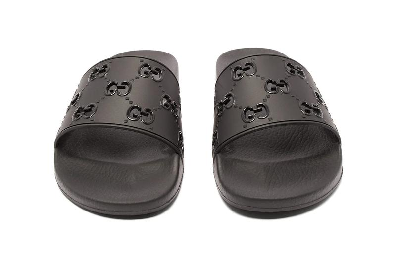 Gucci GG Cut-Out & Logo Leather Rubber Slides Release matchesfashion.com ss19 spring/summer 2019 sandals loungewear embroidered 1284989 1284990 pre-aw 19 f/w 19 autumn winter fall winter