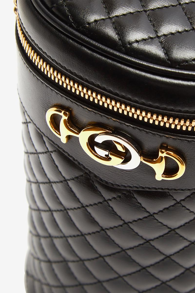 Gucci Quilted Leather Belt Bag Black Gold