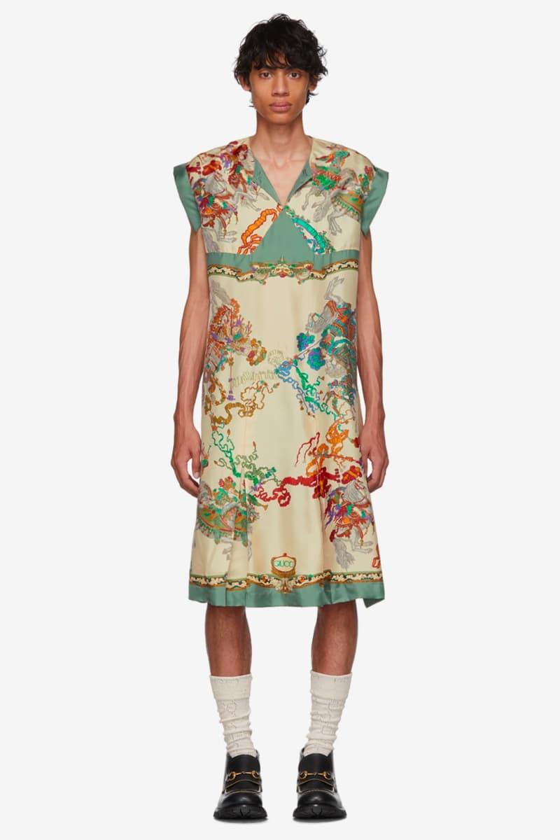 0f1fc341b Gucci Roi Soleil Print Shirt Release Silk off white multicolor dress mens