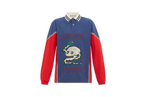 Gucci's Piqué Polo Shirt Features Embroidered 19th Century Poetry