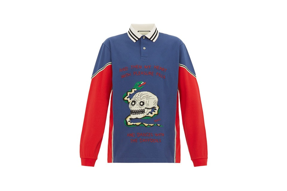 e21c5dac Gucci Skull and Snake-Appliqué Polo Shirt SS19 | HYPEBEAST