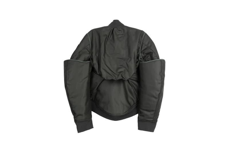 helmut lang four sleeved bomber jacket green nylon spring summer 2019 release