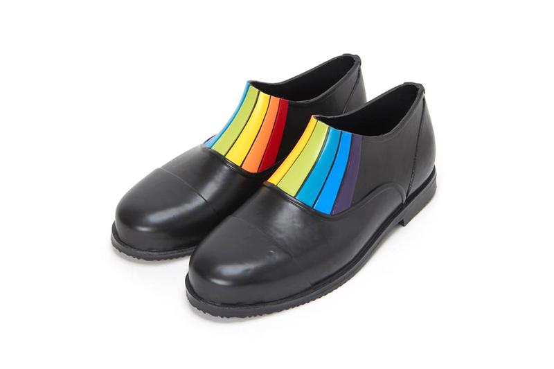 Hender Scheme PARALLEL / FRONT GORE Rubber Rain Shoes Fall Winter 2019 FW19 Japanese Footwear Black Brown Rainbow Panel