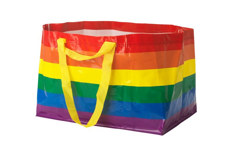 IKEA Rainbow Shopping Bag for Pride Month Sweden frakta KVANTING