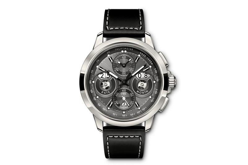 IWC Ingenieur Perpetual Calendar Titanium Model date month digital watch watches collectible collection luxury design aerospace internal combustion engine