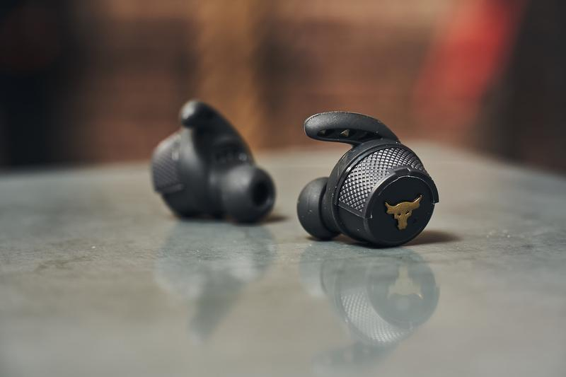 JBL UA Project Rock True Wireless In-Ear Headphone Announcement Dwayne Johnson Black Gold