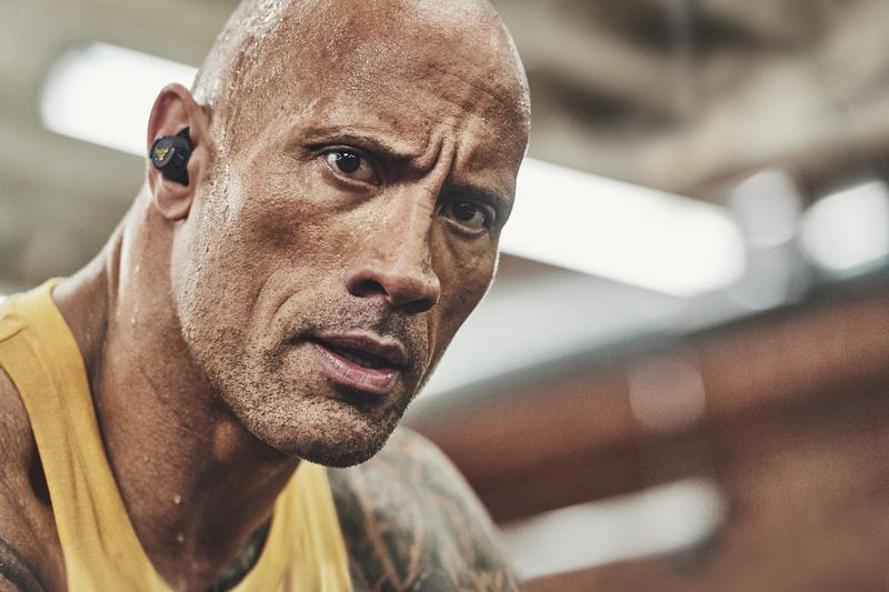 JBL UA Project Rock True Wireless In-Ear Headphone Announcement Dwayne Johnson Black Gold