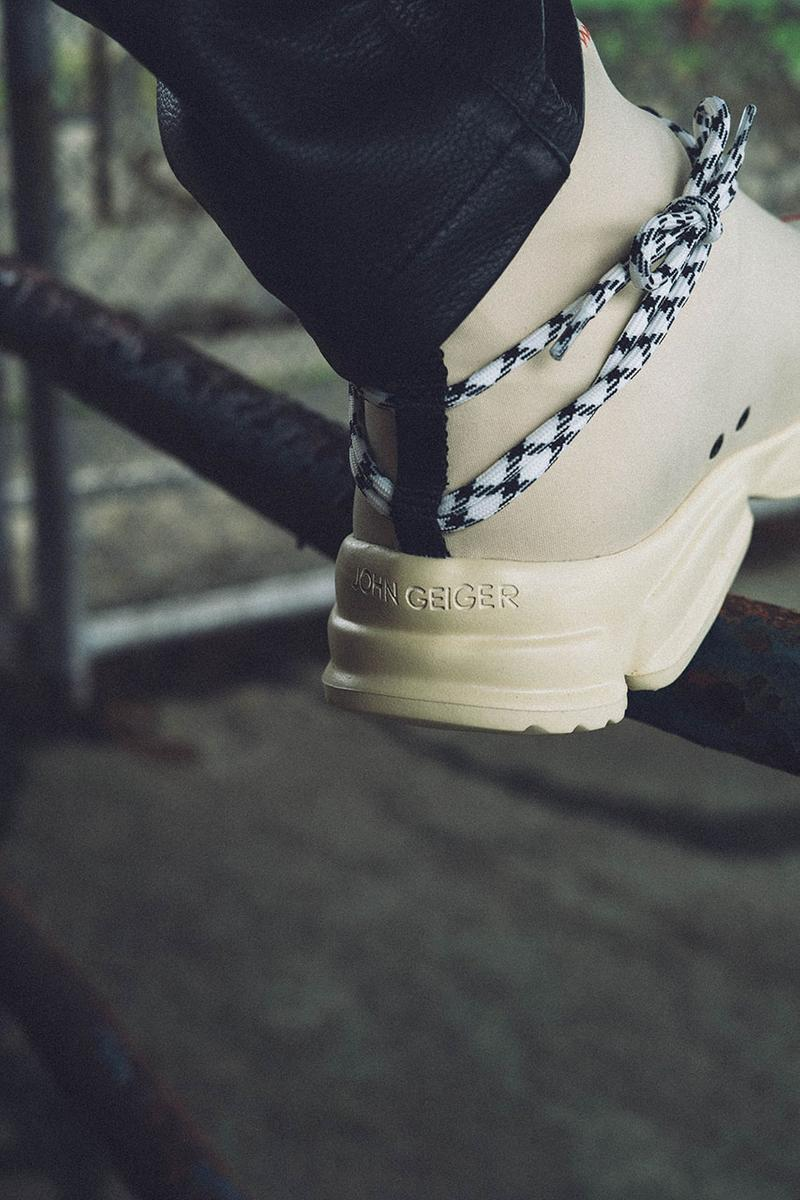 "John Geiger 002 ""Cream"" Sneaker Colorway Release date drop info may 31 2019 mental health awareness month"