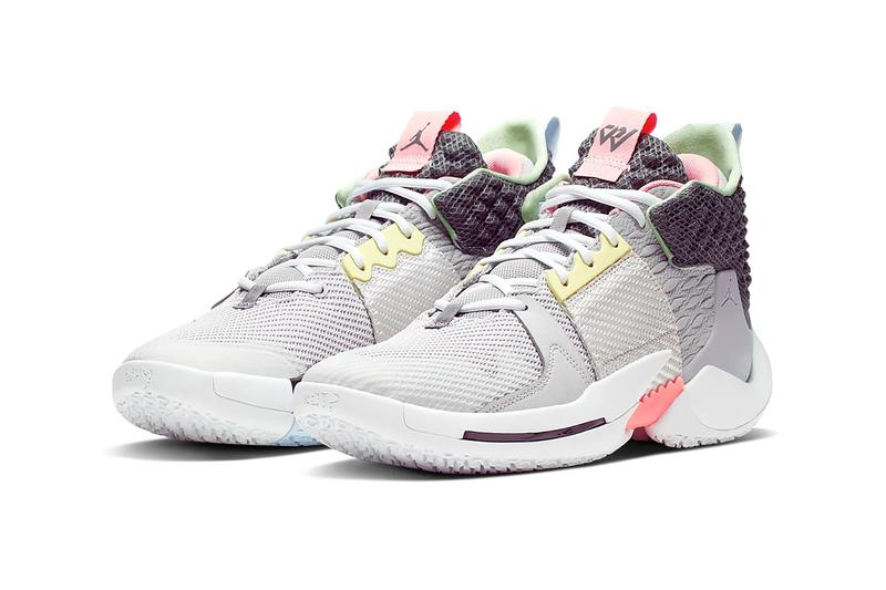 jordan why not zer02 zer 02 vast grey atmosphere grey white gunsmoke pink colorway release spring 2019