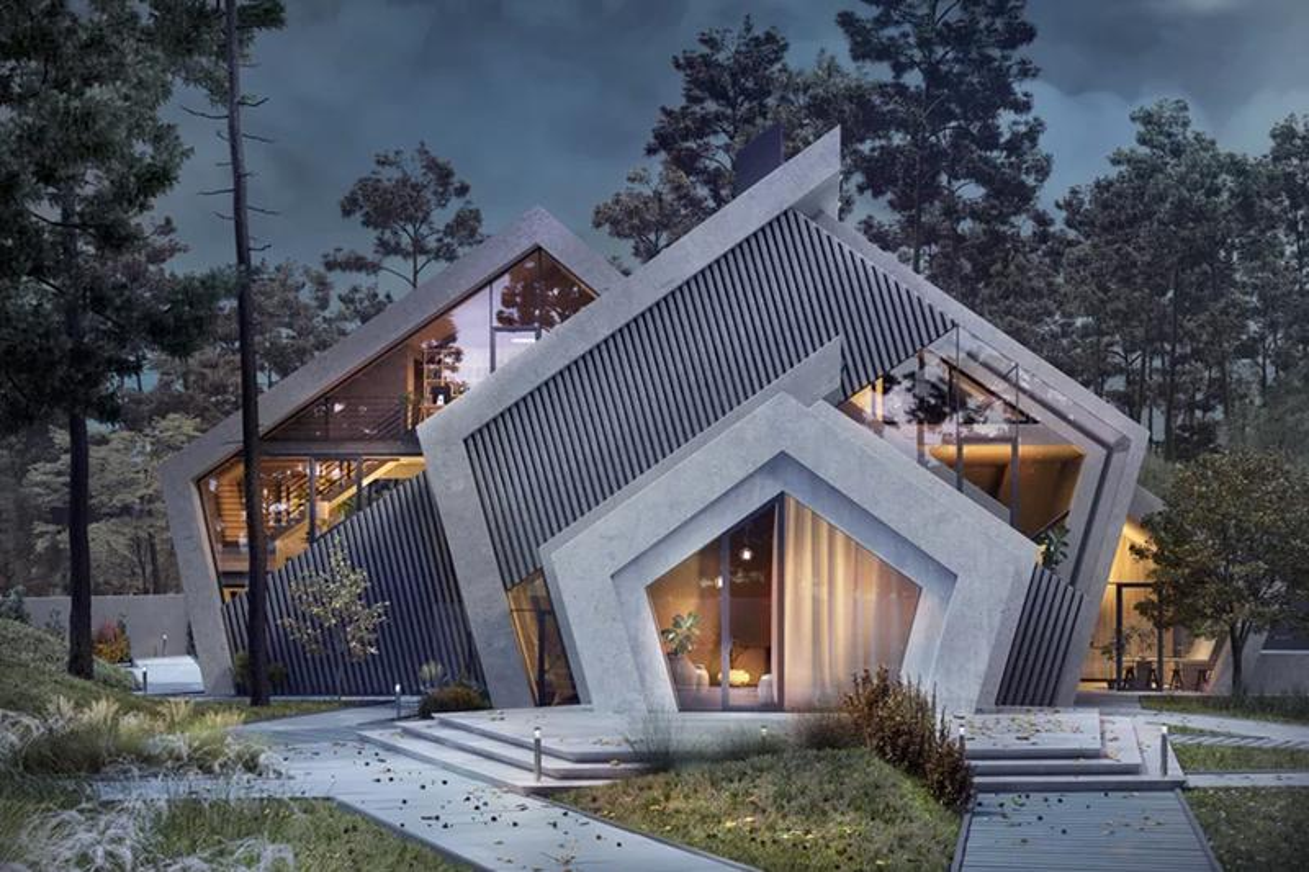 Karina Wiciak Designs the Mountain-Inspired Concrete 'Pentahouse'