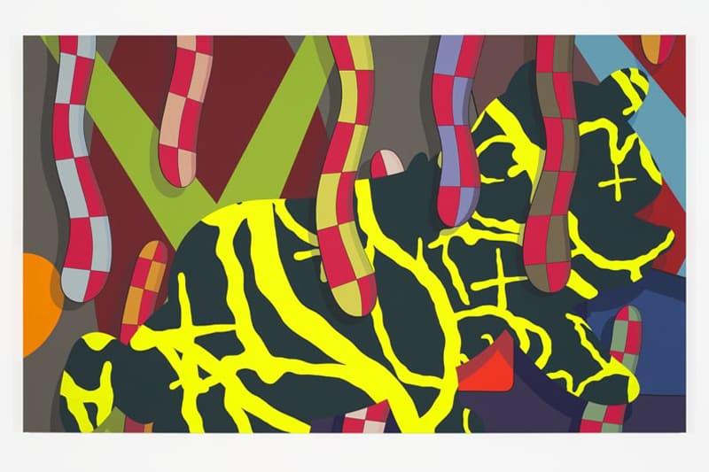 kaws alone again museum of contemporary art detroit paintings artworks companion sculpture