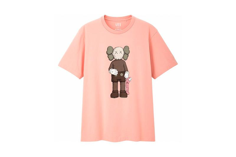 Full KAWS x UNIQLO UT SS19 Collaboration Companion BFF pink blue t-shirts stripped shirts
