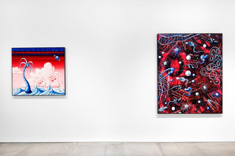 kenny scharf blue blood exhibition artworks paintings totah gallery new york city