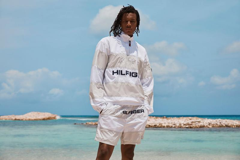 KITH x Tommy Hilfiger Spring/Summer 2019 Collection Hyperbole Running Sneaker nautical tropical island of mustique 1990s Monogram Track Suits Sailing Vests
