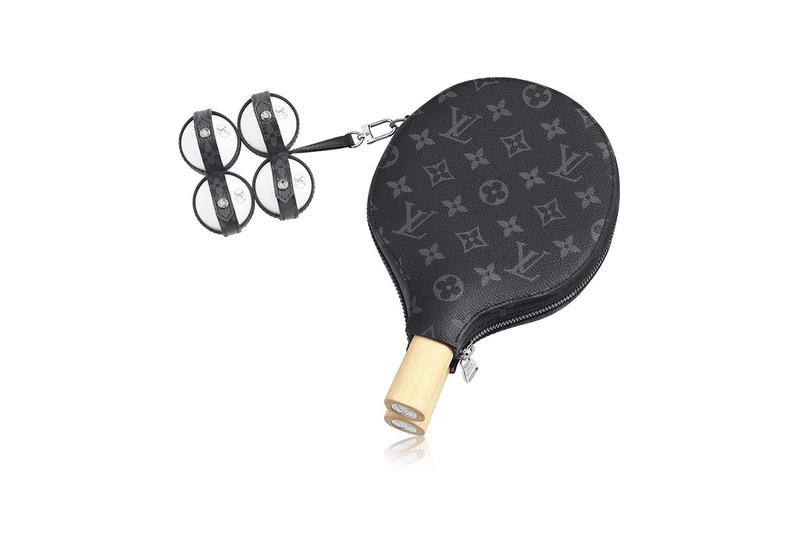 Louis Vuitton PING PONG SET JAMES Release objects luxury goods sports leather monogram france paris maison trunks