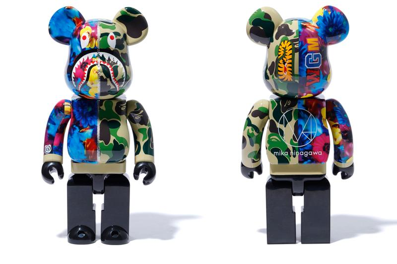 m / Mika Ninagawa x BAPE x Medicom Toy Collaboration capsule release date info may 25 2019 buy shark hoodie bearbricks clock tee shirts