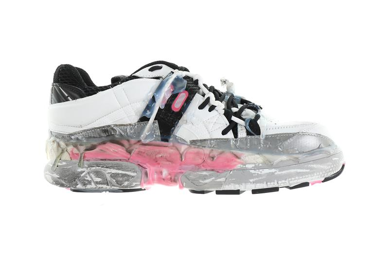 "Maison Margiela Fusion Low Top Sneakers ""Bubblegum Mix"" Release info deconstructed hot glue duct tape maximalism shoes footwear distressed S57WS0257 Nubian Cow Leather  drop date price"