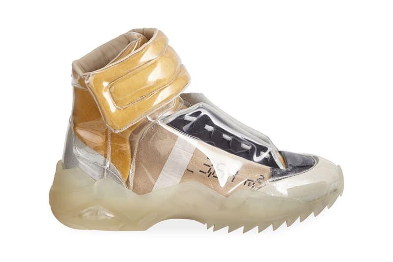 maison margiela new future laminated high top sneakers hightops