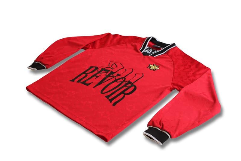 Studio Golden Cabane's Éric Cantona Manchester United Capsule football soccer jersey kit red black golden bee