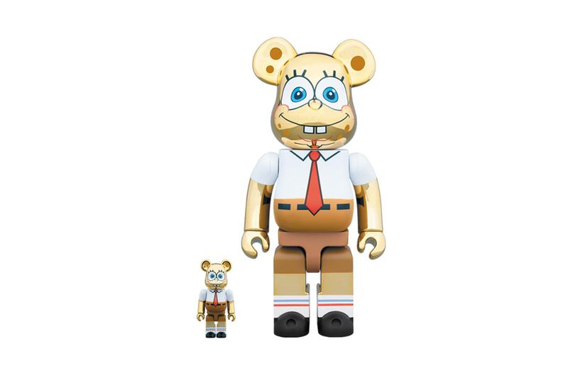 Medicom Toy x Spongebob BE@RBRICK Release Info gold chrome metal release date drop info price 1000% 400% 100% metal bucktooth spongebob squarepants patrick starfish
